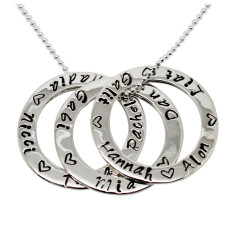 Triple Circle of Love Necklace