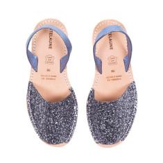 Glitter Antracite Avarcas Sandals