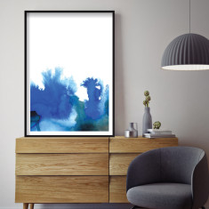 Indigo watercolour art print (various sizes)