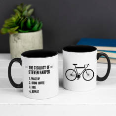 Personalised Cycology Two Tone Cyclist Mug