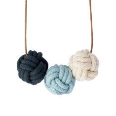 Sydney nautical knot necklace