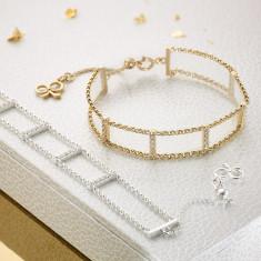 Matchstick White Topaz Bracelet (Sterling Silver & Gold Vermeil)
