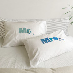Mr and Mrs Pillowcase Set