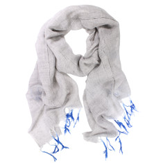 Bondi Cotton Linen Dipped Fringes Scarf (various colours)