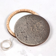 Personalised I love you to the moon & back pocket mirror