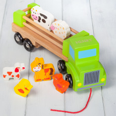 Personalised Kids' Wooden Farm Lorry