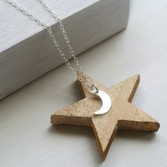 Sterling Silver Little Moon Necklace