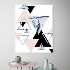 Blushing Triangles | Canvas Art