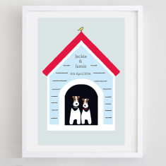 Personalised terrier print