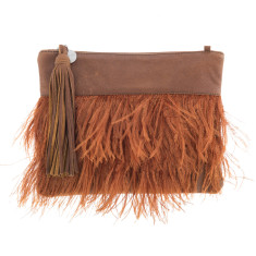 Tilly Rust Leather Clutch