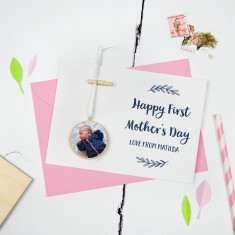 Personalised First Mother's Day Photo Keepsake Card