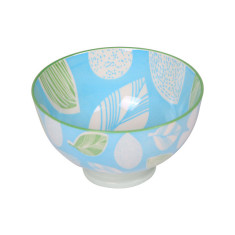 Printed Bowls in Blue & Green (Set of 4)