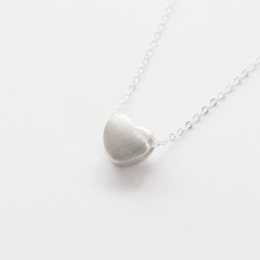 Chain necklace with sterling silver heart