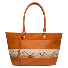 Snake charmer vegan leather tote bag