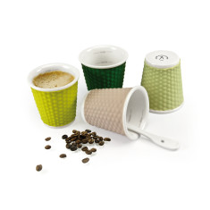 les artistes honeycomb espresso cups in spring (pack of 4)