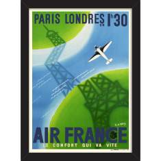 Air France Paris to London Print