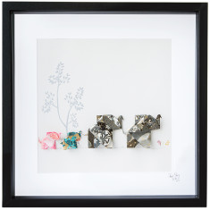 Elephant home framed art work