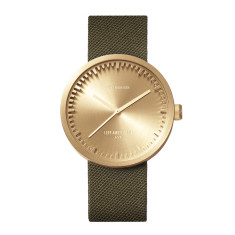 Leff Amsterdam Tube Watch D42 With Green Cordura Strap