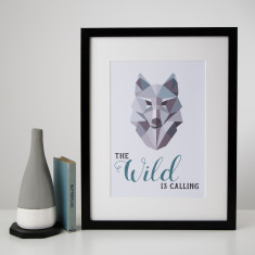 Wild is Calling Wolf Print