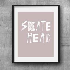 Skate head print