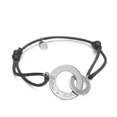 Women's personalised sterling silver intertwined bracelet