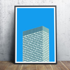 New York Facades - 390 Park Avenue giclee art print