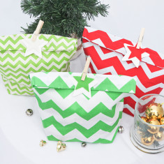 Chevron Christmas gift bag