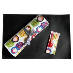 Babushka doll chalkboard placemat