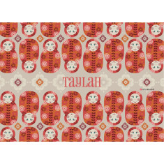Babushka dolls personalised placemat