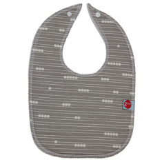 Baby bib in abacus grey