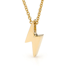 Gold baby lightning bolt necklace