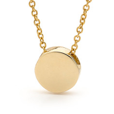 Gold baby disc necklace
