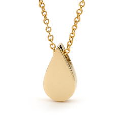 Gold baby drop necklace
