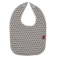 Baby bib in honeycomb grey