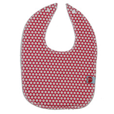 Baby bib in honeycomb red