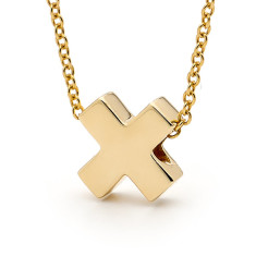 Gold baby kiss necklace