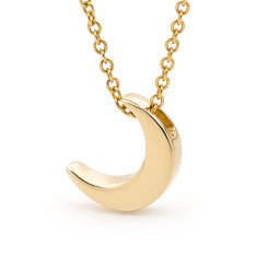 Gold baby crescent moon necklace