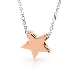 Rose gold and sterling silver baby star necklace