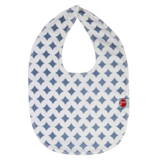 Baby bib in blue lattice