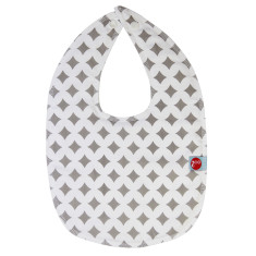 Baby bib in grey lattice