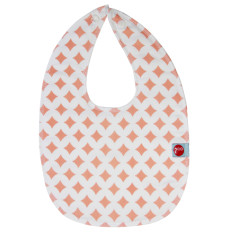 Baby bib in pink lattice