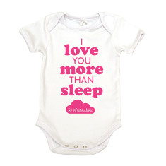 Love sleep organic cotton baby onesie
