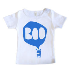 Baby BOO T-Shirt - Blue on White