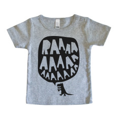 Baby RAAAAA t-shirt in black on grey