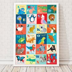 Li'l Aussie alphabet large format art print