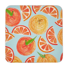 Oranges coasters (set of four)