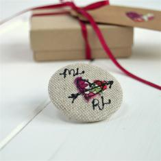 Personalised love heart badge