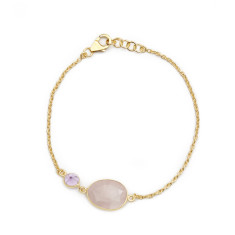 Rose Quartz and Amethyst Bracelet