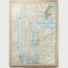 Manhattan vintage style map pinboard