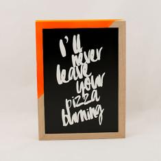 Pizza Burning mis-quoted lyric